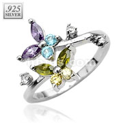 Butterfly CZ .925 Sterling Silver Toe Ring
