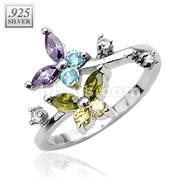 Butterfly CZ .925 Sterling Silver Toering
