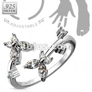 Clear CZ Butterfly .925 Sterling Silver Toe Ring