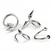 Twist with Spikes 316L Surgical Stainless Steel
