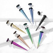 Titanium IP Over 316L Surgical Steel Fake Taper