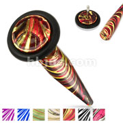 Multi Color Plated and Extra Clear Electric Coated 316L Surgical Steel 16gauge Fake Tapers with Black O-Ring