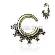 Tribal Antique Gold Plated Ear Spiral Taper