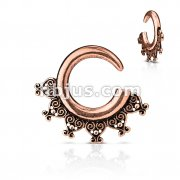 Tribal Antique Bras Plated Ear Spiral Taper