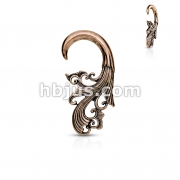 Tribal Antique Brass Plated Ear Hanger Taper