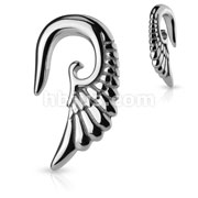 Angelic Wing Hanging 316L Surgical Steel Taper
