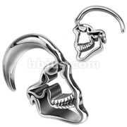 Skull Hanging 316L Surgical Steel Taper
