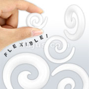 White Silicone Flexible Spiral Taper 140pc Pack (20pcs x 7 sizes, 3mm~12mm)