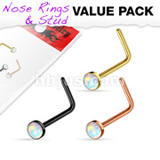 Opal Set IP Over 316L Surgical Steel