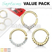 3 Pcs Assorted Hoops for Cartilage, Tragus, Septum, and More