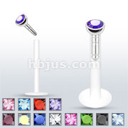 Push In  Monroe/Labret with 316L Surgical Steel Press Fit Gem Ball 240pc Pack( 20pcs x 12 colors)