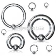 100pcs of 316L Surgical Steel Captive Bead Ring