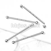 316L Surgical Steel Internally Threaded Industrial Barbells with 3-Threaded Holes on Bar